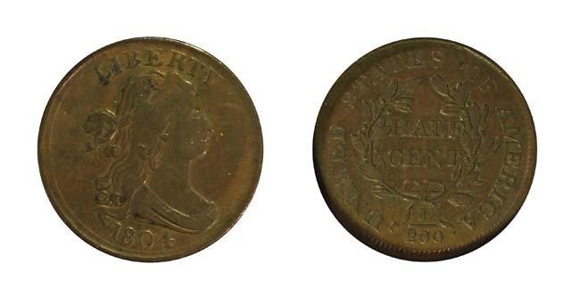 1804 1/2 Cent - Plain 4, Stemless