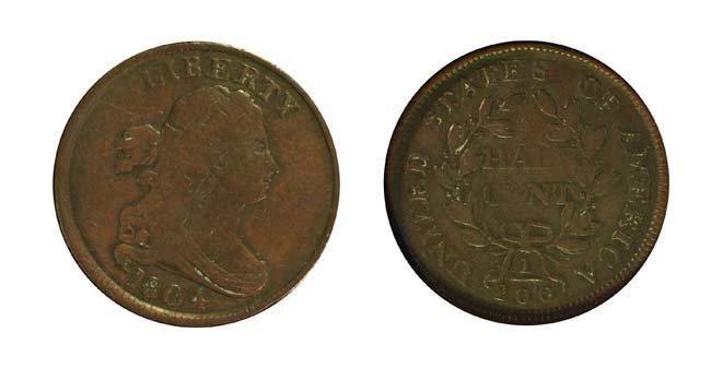 1804 1/2 Cent - Plain 4, Stems