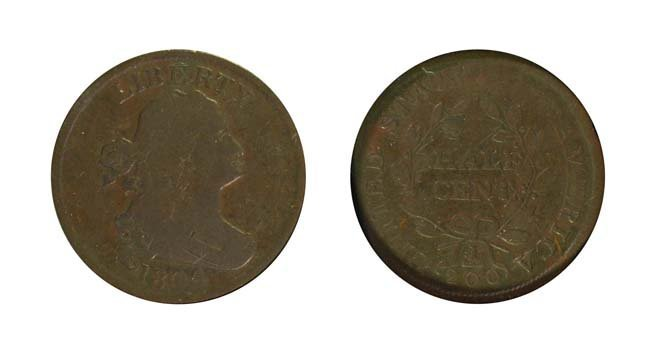 1804 1/2 Cent - Spiked Chin