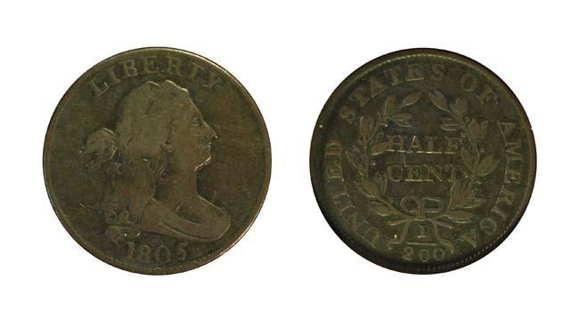 1805 1/2 Cent - Large 5, Stems