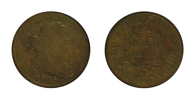 1805 1/2 Cent - Medium 5, Stemless