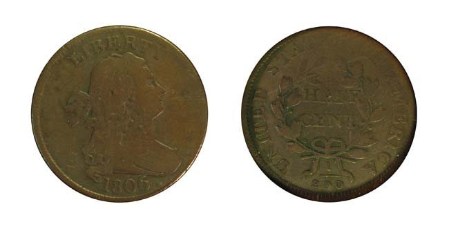 1806 1/2 Cent - Large 6, Stems