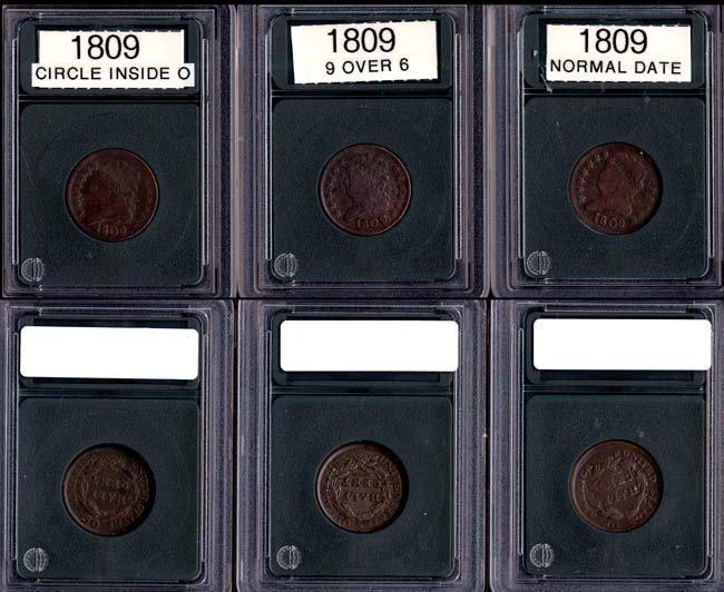 1809 1/2 Cent -  Three (3 Pieces)