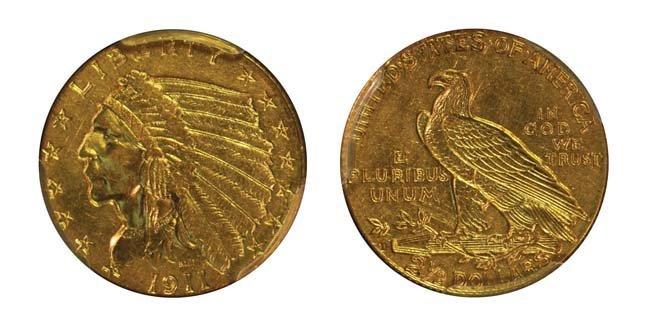 1911-D $2 1/2 Indian Head
