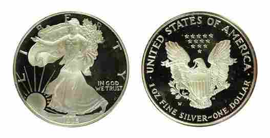 """1995 10th Anniversary Set including 1995 """"W Silver"""