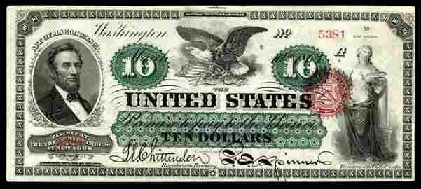 Large Size Type Notes ; Legal Tender