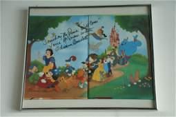 Disney Book Signed Adriana Caselotti (Snow White)