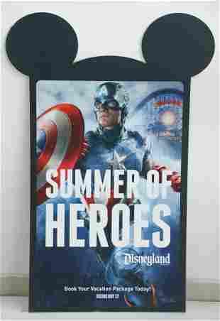 Disney Parks Marvel Captain America Sign