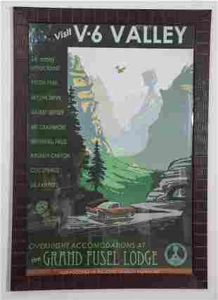 Disney Cars Premiere Prop Used Poster III