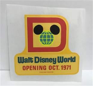 Walt Disney World Pre-opening Decal