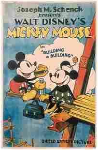 "Disney 1933 ""Building a Building"" Lobby Poster"