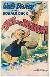 "Disney 1948 ""Three for Breakfast' Lobby Poster"