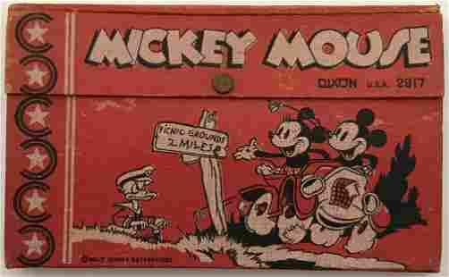 Disney 1930's Mickey & Minnie Mouse Pencil Box