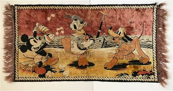 Disney 1930's-40's Mickey Mouse Rug