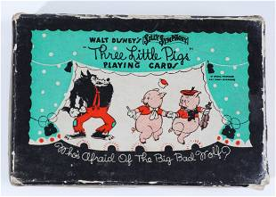 """Disney 1932 """"Three Little Pigs"""" Playing Cards"""