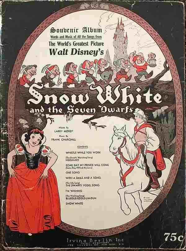 Disney 1938 Snow White Souvenir Sheet Music