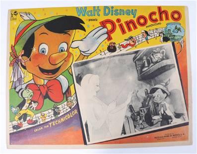 Disney Pinocchio Mexico Lobby Card