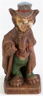 "Disney Pinocchio 1940's ""Honest John"" Figurine"