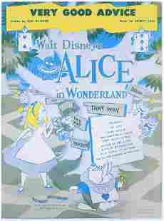 Disney Alice in Wonderland 1949 Music Sheet