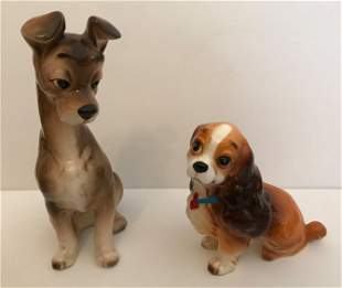 Disney Vintage Lady and the Tramp Figurines