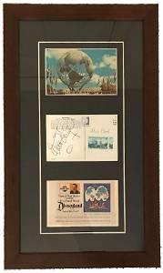 Walt Disney Signed 1964-65 NY World's Fair Postcard
