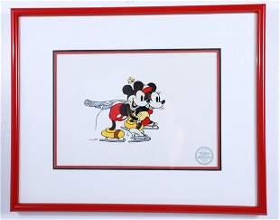"Disney Mickey & Minnie ""On Ice"" LE Serigraph"