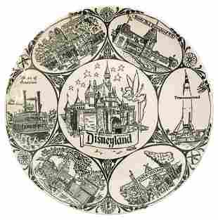 Disneyland 1955 Large Souvenir Plate