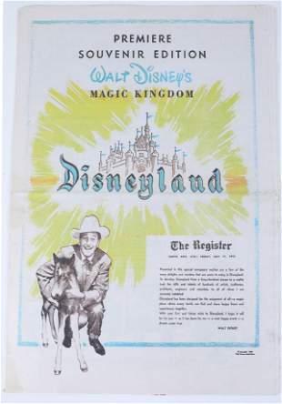 Disneyland The Register 1955 Souvenir Newspaper