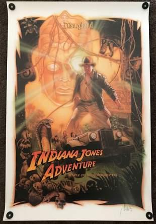 Disneyland Indiana Jones Opening Day Artist Signed