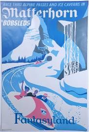 Disneyland Matterhorn Attraction Poster