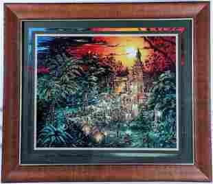 Disneyland Indiana Jones 1995 Lithograph Signed