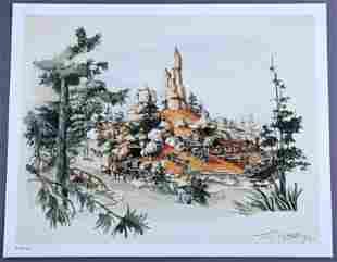 Big Thunder Mountain Railroad Concept Art Lithograph