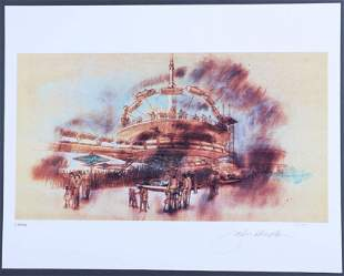 PeopleMover, Rocket Jets Concept Art Lithograph Signed