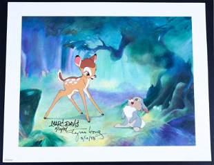 Disney Bambi AP Lithograph Signed Marc Davis