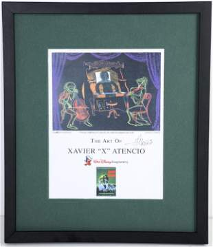 "WDI 'The Art of Xavier ""X"" Atencio' Signed Display"