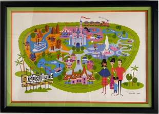 Disneyland SHAG LE 300 Park Map Lithograph