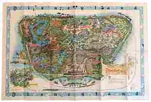 Disneyland 1962 Large Park Map