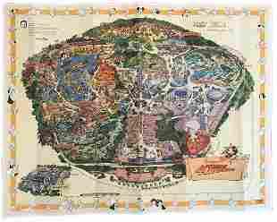 Disneyland 40th Anniversary Map Signed July 17th