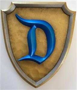 """Disneyland Sleeping Beauty Castle """"D"""" Shield Park Prop"""