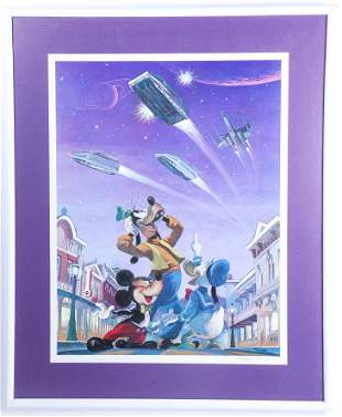 Disneyland Star Tours Limited Edition Lithograph Signed