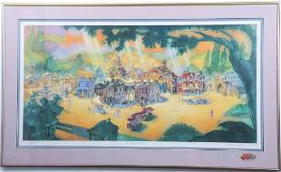 Disneyland Toontown Opening LE Lithograph Signed