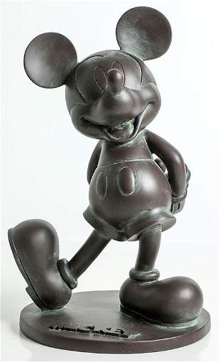 Epcot Mickey Mouse Bronze Style Statue