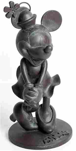 Epcot Minnie Mouse Bronze Style Statue