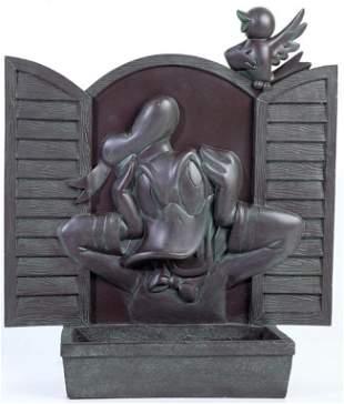 Epcot Donald Duck Bronze Style Flower Pot