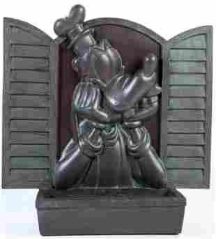 Epcot Goofy Bronze Style Flower Pot