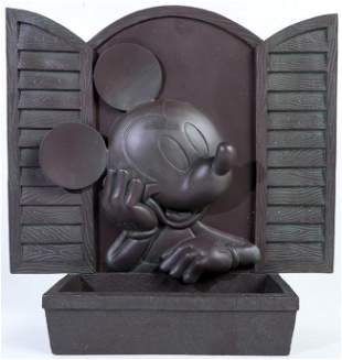Epcot Mickey Mouse Bronze Style Flower Pot