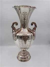 Large Continental 900 Sterling Silver Vase