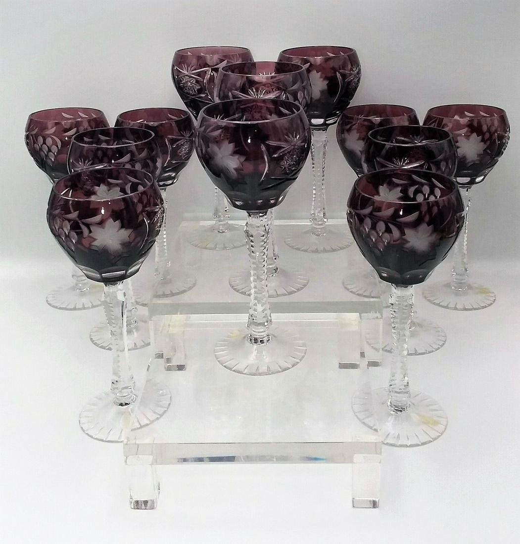 Cut to Clear Purple Wine Goblet Set of 12