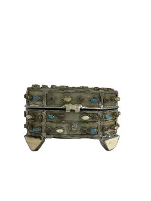 1970's Hand Crafted Multi-Gemstone Box