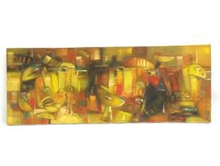 Mystery Artist Surrealist Oil on Canvas